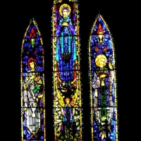Stained Glass Windows from St Dympna's Church